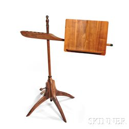 Sam Maloof (1916-2009) Walnut Music Stand